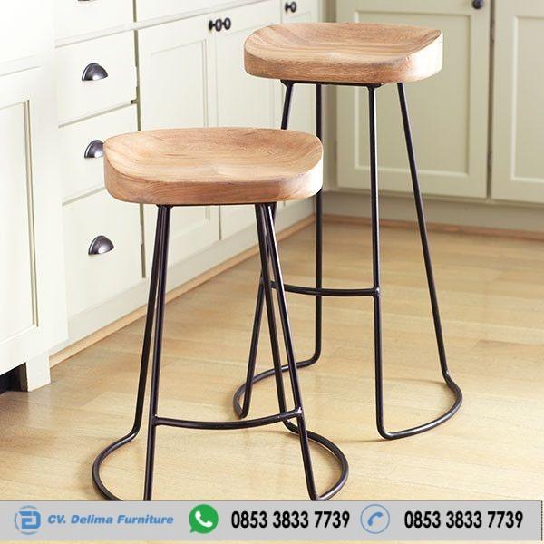 Jual Kursi Cafe Stool Modern Seri Industrial Untuk Makan Dan Bar