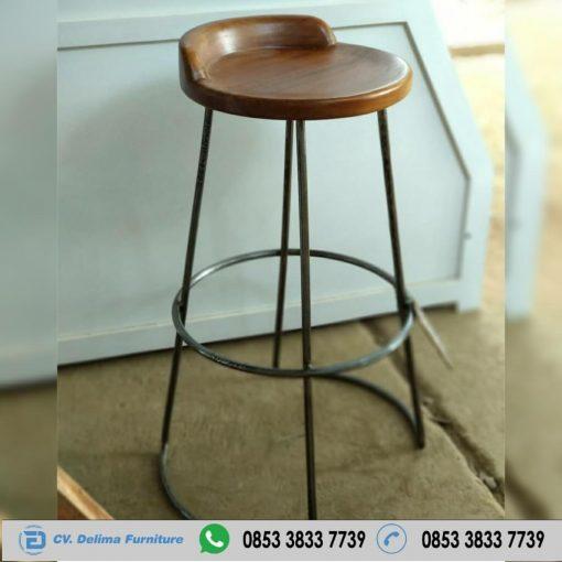 Jual Kursi Cafe Bar Bulat Kaki Besi KC-048