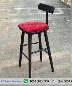 Kursi Bar Murah Dudukan Merah Maroon