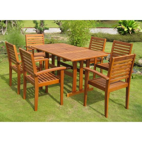 Set Meja Makan Outdoor Garden Furniture