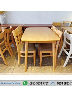Meja Makan Cafe Set Kayu Jepara